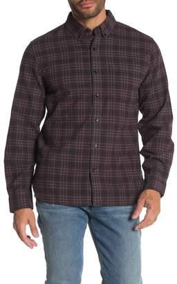 Joe's Jeans Picciano Front Button Plaid Print Woven Shirt