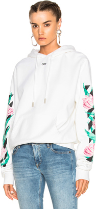 OFF-WHITE Tulip Diagonal Hoodie $684 thestylecure.com