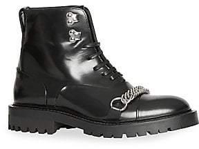 Burberry Women's Barke Leather Combat Boot