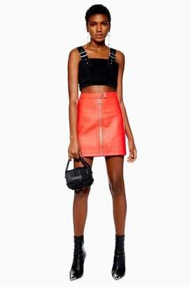 Topshop PU Mini Skirt