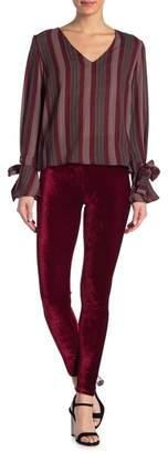 Romeo & Juliet Couture Velour High Waist Leggings