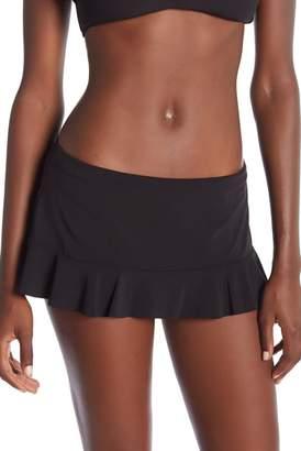 Robin Piccone Lina Ruffled Skirt Bikini Bottoms