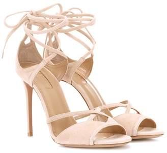 Aquazzura Nathalie 105 suede sandals