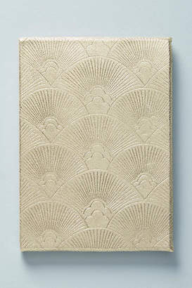 Anthropologie Gold Leather Journal