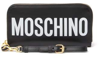 Moschino Leather Logo Wrist Wallet