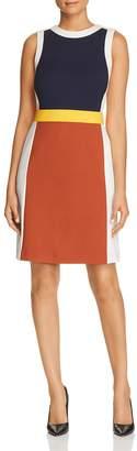 Tory Burch Mya Sleeveless Color-Block Dress