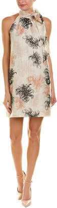 Trina Turk Becoming Silk-Blend Shift Dress