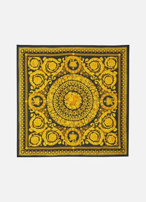 Versace Printed Silk-twill Scarf - Black