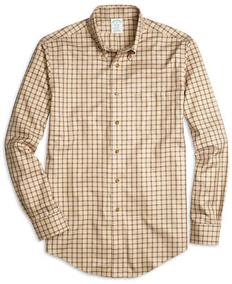 Brooks Brothers Non-Iron Milano Fit Double Windowpane Sport Shirt