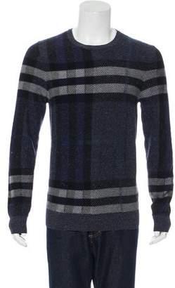 Burberry Wool & Silk Check Sweater