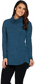Lisa Rinna Collection Cowl Neck Sweater Tunicwith Hi/Low Hem