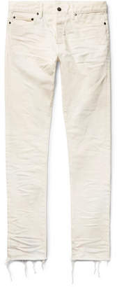 John Elliott The Cast 2 Slim-Fit Tapered Distressed Denim Jeans