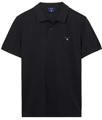 Gant Men's Solid Pique Rugger Regular Fit Short Sleeve Polo Shirt,(Manufacturer Size: )