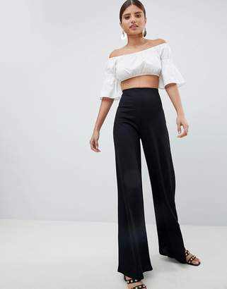 PrettyLittleThing High Waisted Wide Leg Pants