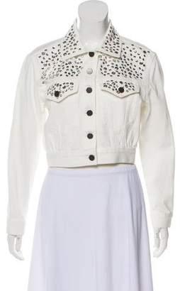 Alice + Olivia Embellished Denim Jacket w/ Tags