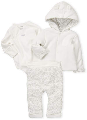Absorba Infant Girls) 3-Piece Hoodie, Bodysuit & Sweatpant Set