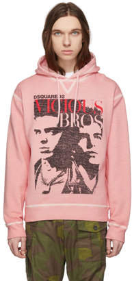 DSQUARED2 Pink Vicious Bros Hoodie