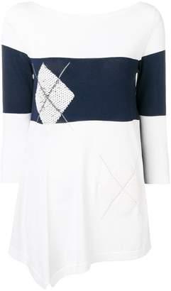 D-Exterior D.Exterior colour block sweater