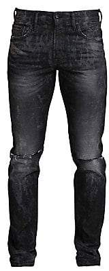 PRPS Men's Windsor Double Knee Rip Skinny Jeans