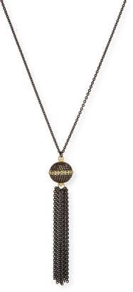 Armenta Old World Pave Diamond Ball Tassel Necklace