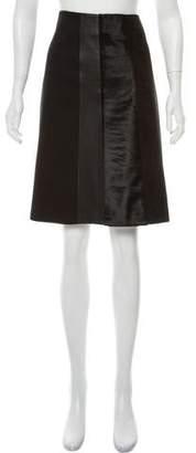 Theory Knee-Length Calf-Hair Skirt