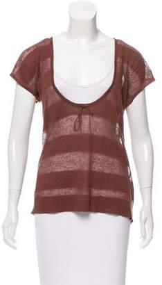 Magaschoni Linen Short Sleeve Top