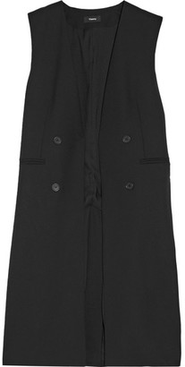 Theory - Aggie Wool-crepe Gilet - Black $485 thestylecure.com