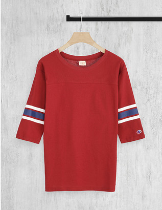 CHAMPION Logo-embroidered cotton-jersey top $37 thestylecure.com