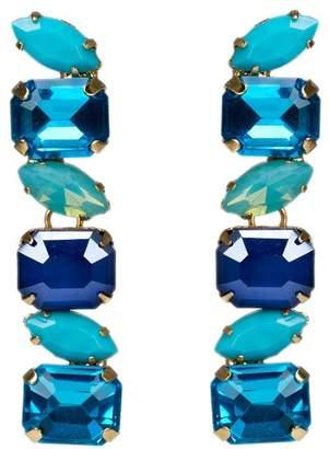 Jardin Linear Glass Stone Earrings