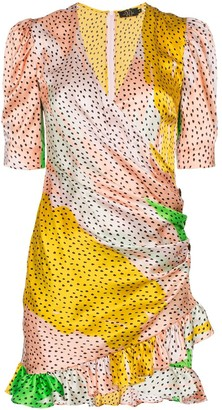 De La Vali Shanna Havanna silk wrap dress