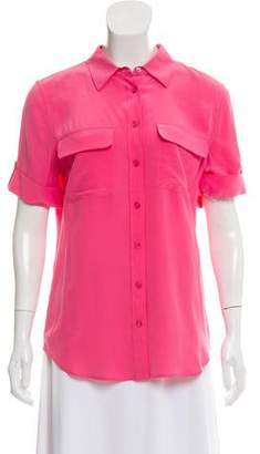 Equipment Silk Button-Up Top w/ Tags