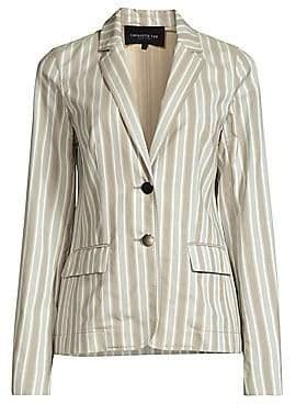 Lafayette 148 New York Women's Vangie Striped Cotton Blazer