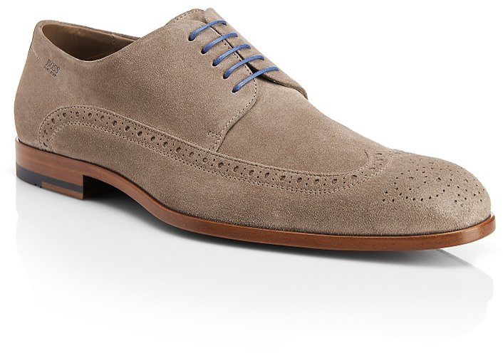 HUGO BOSS 'Fisseo' | Italian Suede Brogue Trim Oxford by BOSS