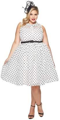 Unique Vintage Plus Size Organza Georgia Swing Dress Women's Dress