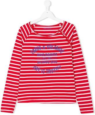 Zadig & Voltaire Kids TEEN logo breton top
