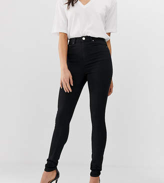 6e5b5a0e60e8 Asos Tall DESIGN Tall Ridley high waisted skinny jeans in clean black