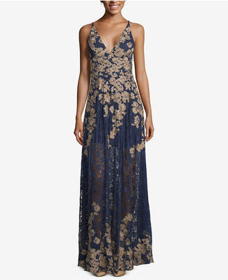 Xscape Evenings Embroidered Lace Gown