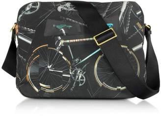Paul Smith (ポール スミス) - Paul Smith Black Canvas Bike Print Messenger Bag