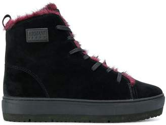 Armani Jeans hi-top lace up sneakers
