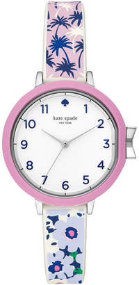 Kate Spade Women's Park Row Multicolored Silicone Strap Watch 34mm