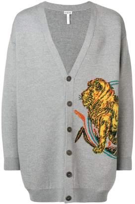 Loewe oversized Lion cardigan