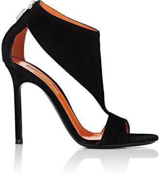 Walter De Silva Women's Cutout Suede Back-Zip Sandals