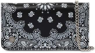 Bandana Print Leather Wallet
