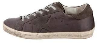 Golden Goose Satin Low-Top Sneakers