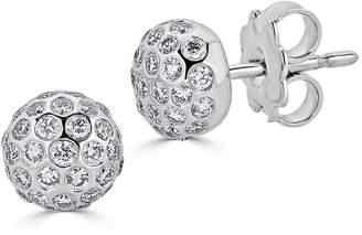 Saks Fifth Avenue Women's Ideal-Cut Disco Ball Diamond and 14K White Gold Stud Earrings