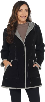 Susan Graver Weekend Bonded Polar Fleece Coat