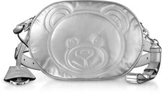 Moschino Teddy Bear Laminated Leather Belt Bag