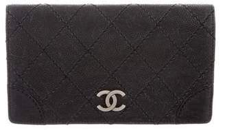 Chanel Diamond Stitch Yen Wallet
