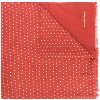 Ermenegildo Zegna polka dotted scarf