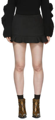 RED Valentino Black Ruffled Skort